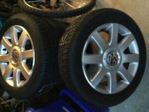 Voltswagon tires and rims, set of four