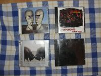 lot 4 cd metallica, u2, nirvanna, pink floyd