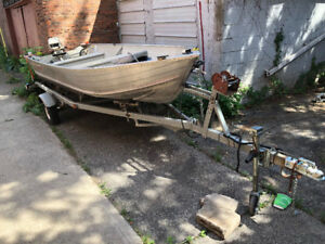 16 foot Alum boat and tilt trailer