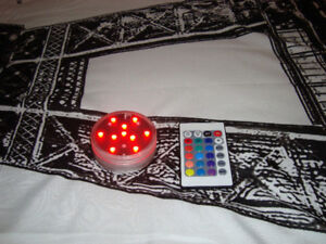 LED WIRELESS MULTI COLOR LIGHT WITH REMOTE CONTROL