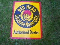 Looking to Purchase Original Red Head Gasoline or Motor Oil Sign