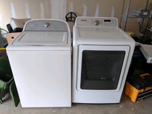 whirlpool top load washer and samsung front load dryer