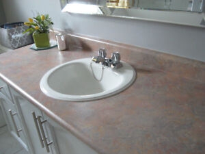 BATHROOM COUNTER TOP WITH SINK AND FAUCET