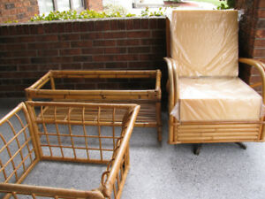 BAMBOO  Furniture / 2 COFFEE TABLES + CHAIR