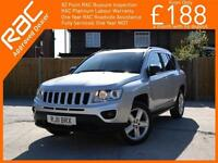 2011 Jeep Compass 2.4 Limited Ltd Auto 4x4 4WD Bluetooth Full Leather Heated Sea