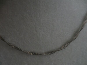 ULTRA-FINE ANTIQUE STERLING SILVER 16-in.TWISTED CHAIN NECKLACE