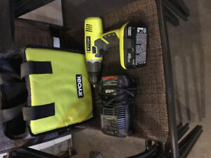 Ryobi one drill charger and battery