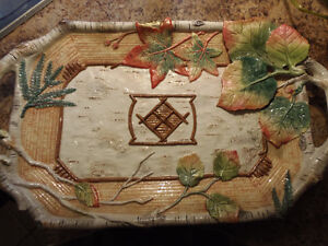 Collectible Fitz & Floyd High Sierra Serving Tray! Desirable!