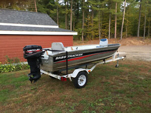14 ft Bass Pro Tracker Boat Motor & Trailer