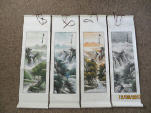4 Season Chinese Hand Painting  for Sale