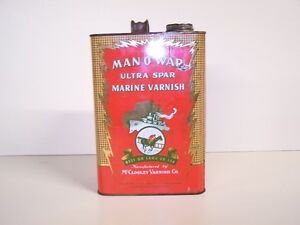GREG'S ANTIQUES  and COLLECTABLES - MAN-O-WAR TIN