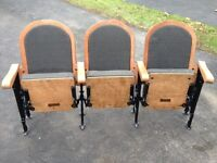Antique Late 1800's folding theater seats.