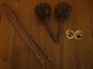 VINTAGE HAND PERCUSSION MUSICAL INSTRUMENTS
