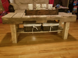 Rustic Bench/Coffee Table