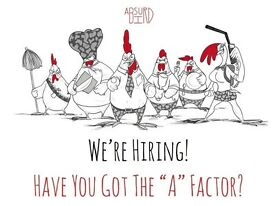 Chefs Wanted - £9 per hour - New - Absurd Bird Exeter - great rates of pay