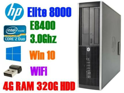 HP Desktop 3.0Ghz/8G RAM/320G HDD/WiFi/Win7