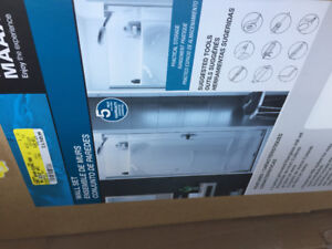 Fiberglass Shower - 4 piece with chrome door.  New in box