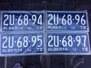 BRAND NEW STILL IN THE PLASTIC VINTAGE LICENSE PLATES 1971-1972