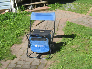 Folding chair with cooler underneath.  Asking $5.00