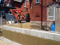 Additions, Garages, Foundation Excavations, Demos, Waterproofing