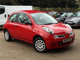 2009 Nissan Micra 1.2 16v ( 79bhp ) Visia 3 Door Red only 46,493 Miles 1 OWNER!!