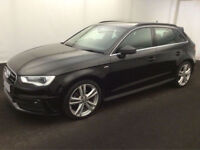£249.28 PER MONTH 2014 AUDI A3 2.0TDI (150ps) SPORT BACK S Line 5 DOOR DIESEL