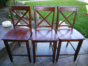 High top bar stools for Island