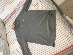 Moncler size L long sleeve collar shirt