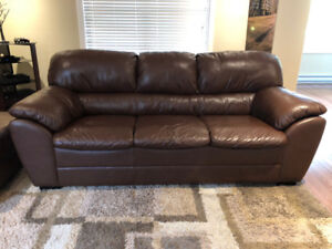 Palliser Brown Leather Couch