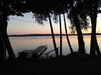 5* WATERFRONT COTTAGE RENTAL ON BASS LAKE ORILLIA - SUMMER!!