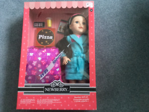 "New 18"" Newberry Doll with accessories"