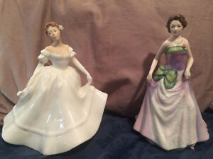 "Royal doulton figurines ""Nancy"" and ""Jessica"" in mint condition"