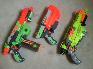 Assorted NERF Guns and Parts