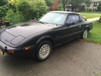 84 MAZDA RX7 GSL-SE ROLLING CHASSIS