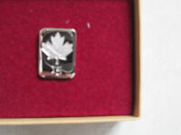15 year sterling silver lapel pin