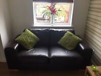 Reid's 2x two seater sofa and footstool