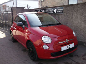 12 12 REG FIAT 500 1.2 S/S 3DR £30 FOR 1 YEARS TAX LOW MILEAGE RED SEATS MOT 19