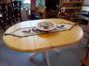 Wooden table with 2 leafs. ~~ reSource Thrift Store, Barrie Sout
