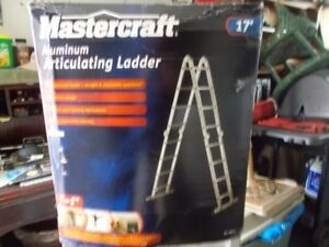 17  ft  Articulating aluminum Ladder