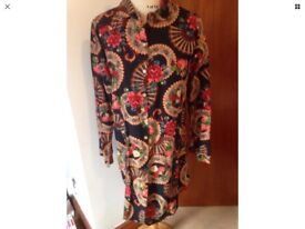 Lovely P Ammy 100% Cotton Navy Floral Shirt New With Tags XXL 12-14