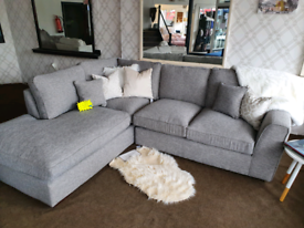 SALE!! RRP £2299 Rio Grey Left Right Corner Sofa DELIVERY AVAILABLE