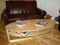 Table ovale en bois ( Suède )