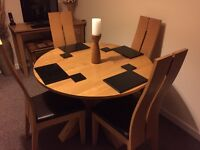Next Oak Dining table and chair set