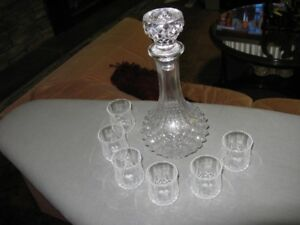Vintage Wine decanter with glasses