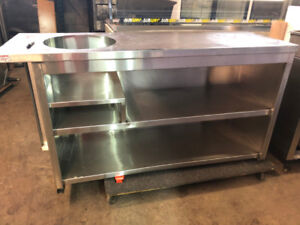 STAINLESS STEEL PREP TABLE FOR SALE