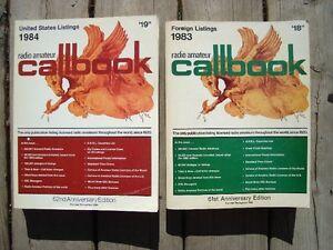 2 old Radio Amateur Callbooks