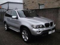 "06 56 BMW X5 3.0D SPORT AUTO 5DR BLACK HEATED LEATHER LOW MILEAGE 19"" ALLOYS A/C"