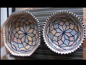3 bols ceramique de Tunisie - 3 ceramic bowls Tunisia