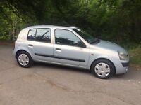 Renault Clio, 2002/52, 1.2 petrol, long mot, £795