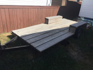 6ft-12ft low flat deck trailer